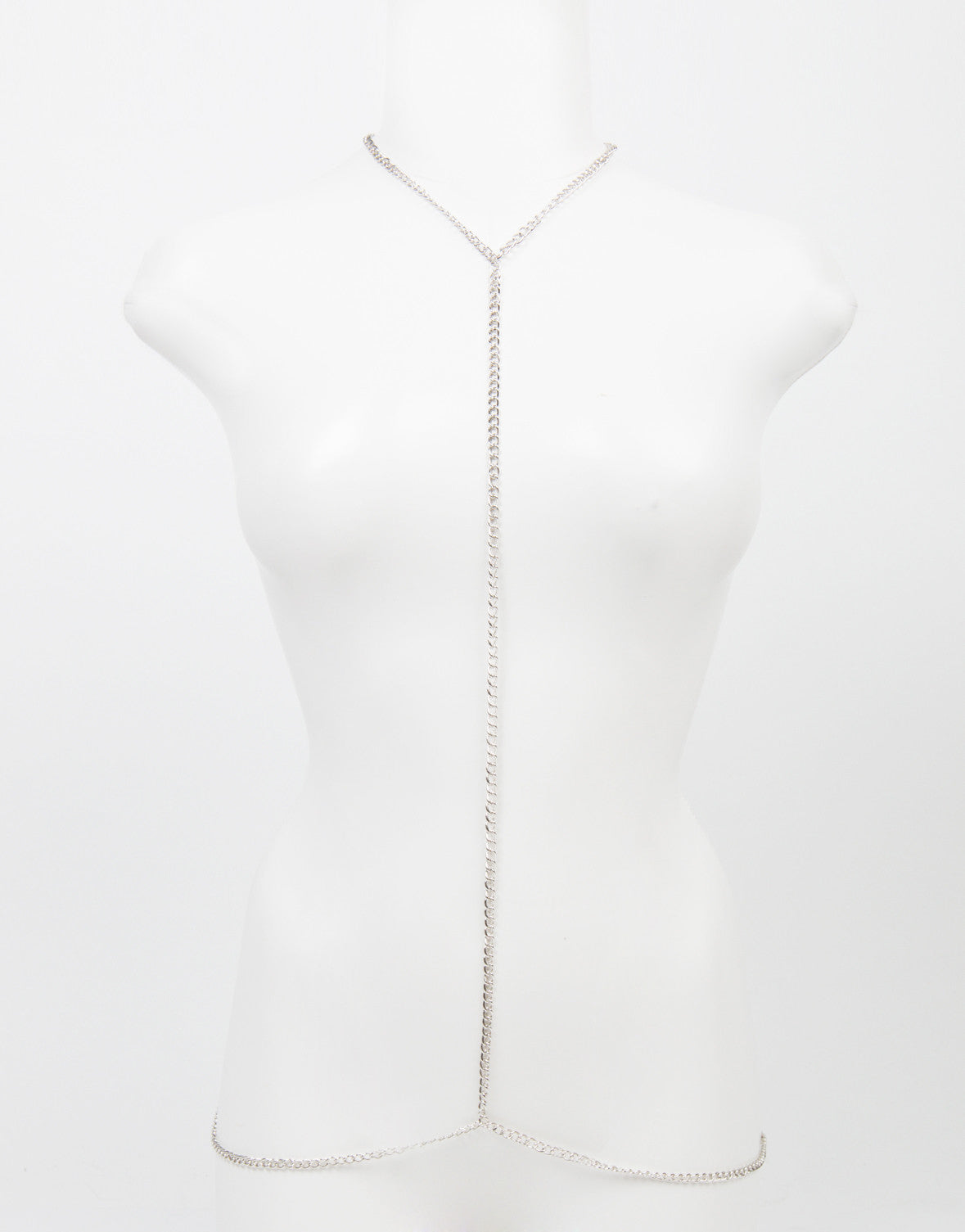 Front View of Simple Centered Body Chain