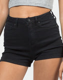 Detail of Simple High Waisted Shorts