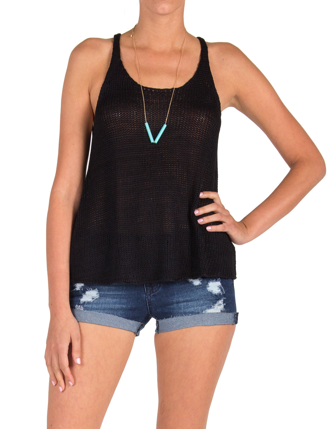 Simple Knit Tank - Black - Small - 2020AVE