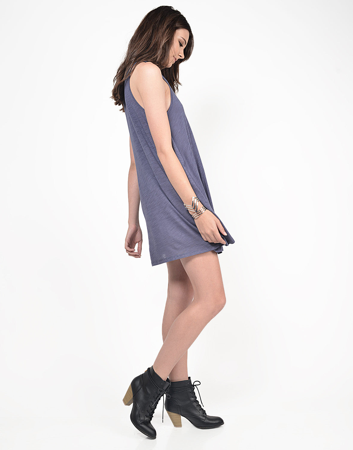 Side View of Simple Lightweight Sleeveless Dress