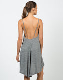 Back View of Simple Low Back Tank Dress