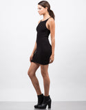 Side View of Simple Ribbed Bodycon Dress