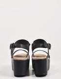 Back View of Simple Slingback Flatform Sandals