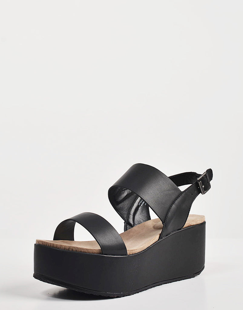 Simple Slingback Flatform Sandals - 2020AVE