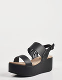 Detail of Simple Slingback Flatform Sandals