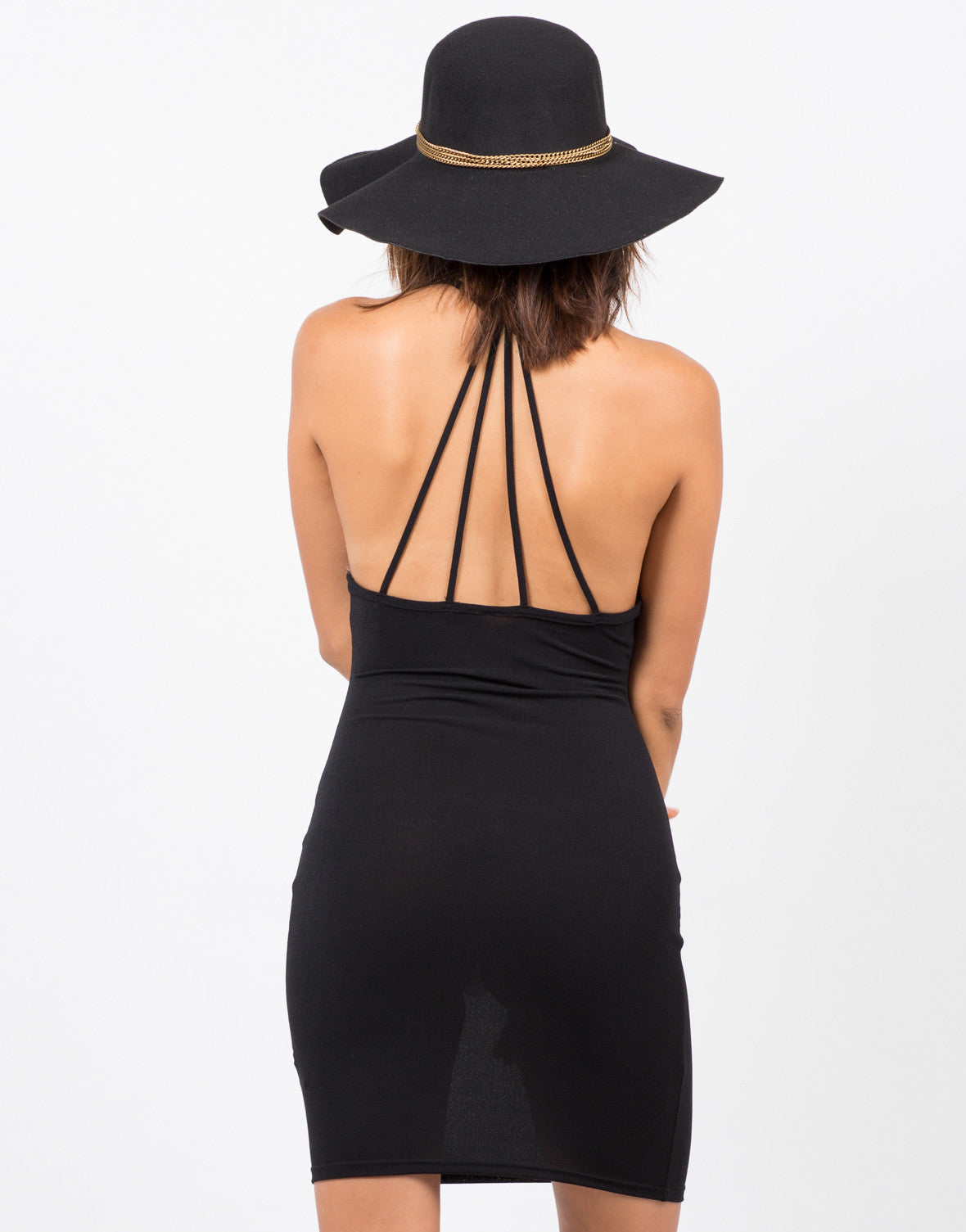 Back View of Simple Strappy Dress