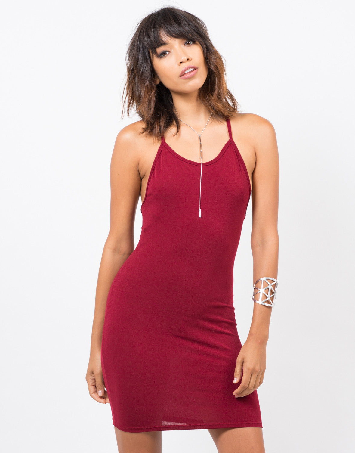 Front View of Simple Strappy Dress