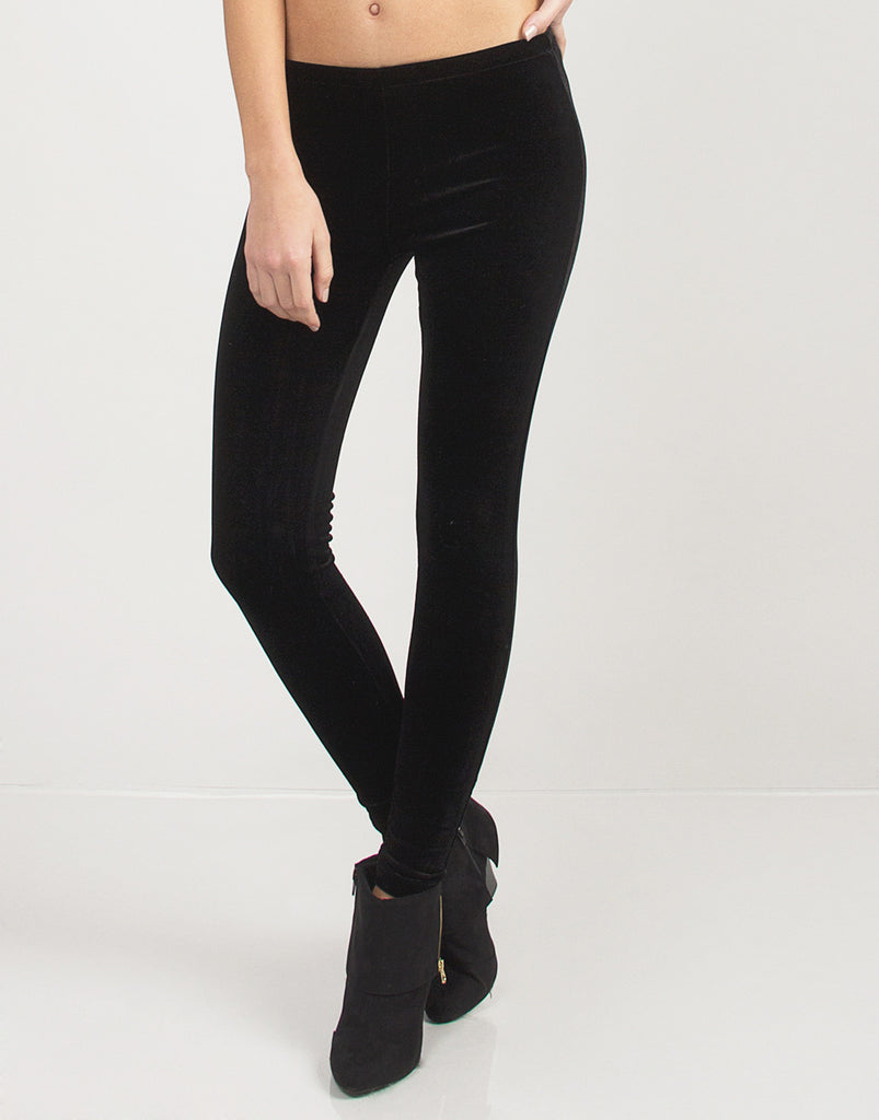Simple Velvet Leggings - 2020AVE