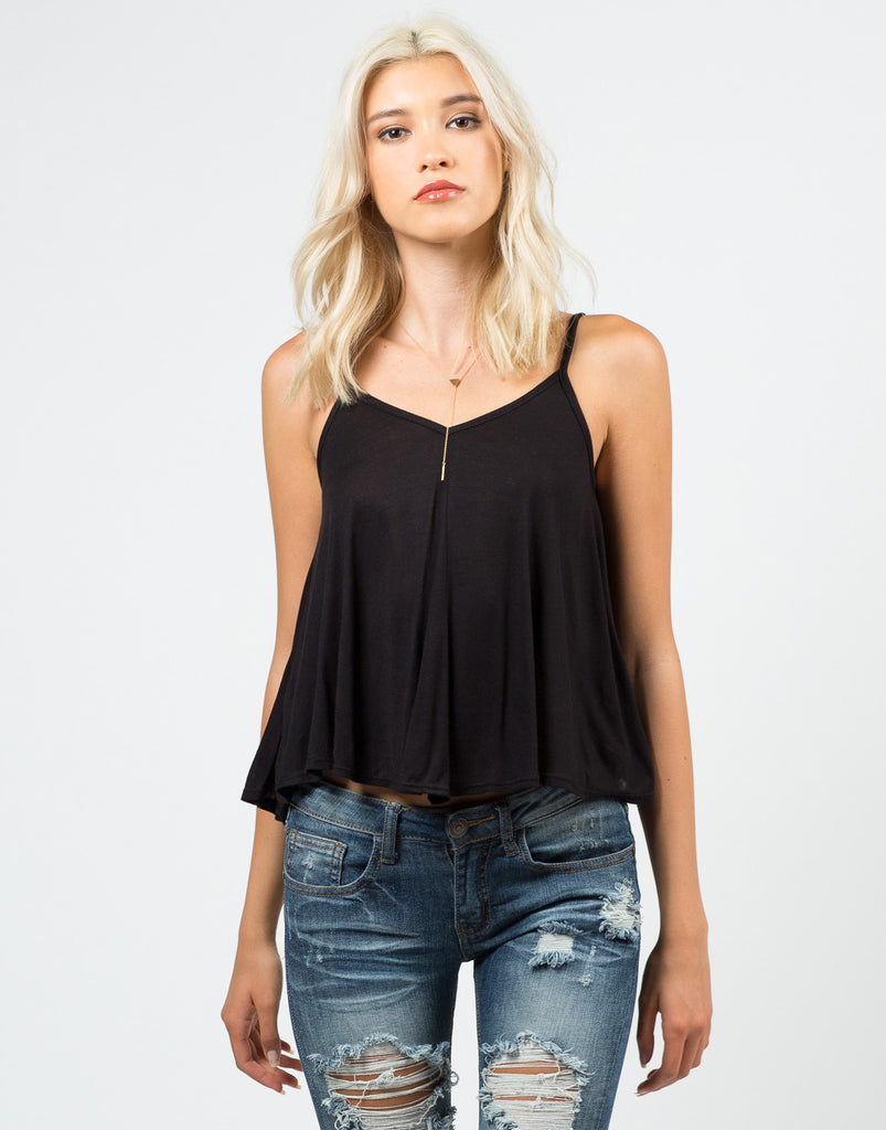 Simple V-Neck Tank Top - 2020AVE