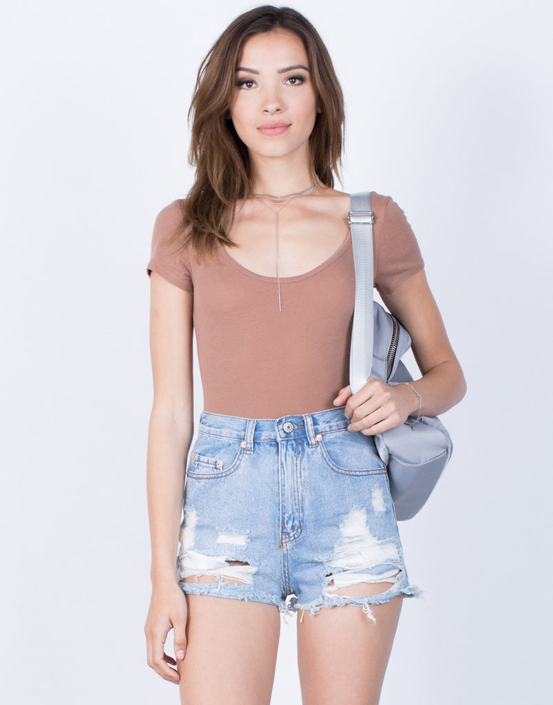 Front View of Simply Basic Bodysuit