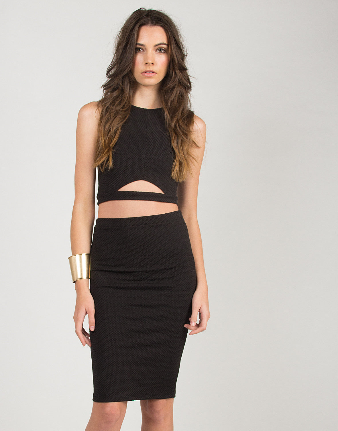 Simply Slit Bodycon Midi Skirt