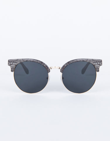 Black Sketched Retro Sunnies