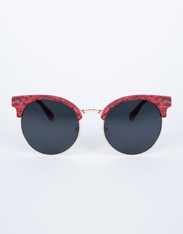 Red Sketched Retro Sunnies