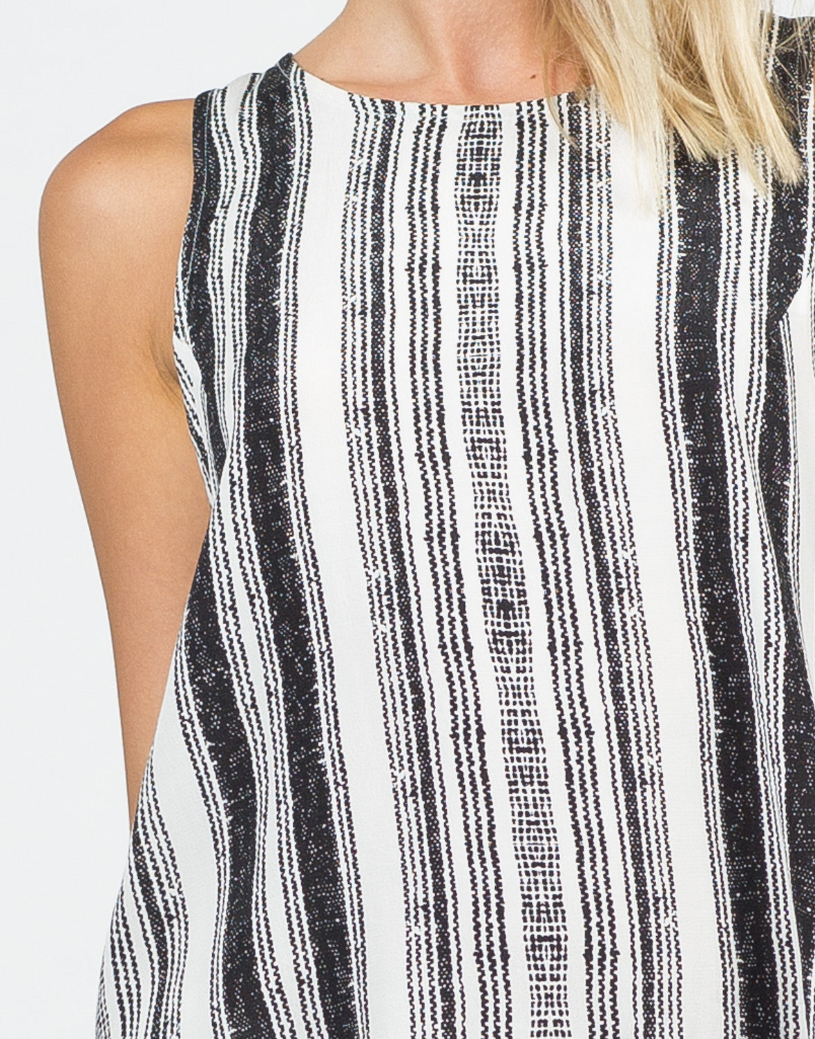 Detail of Skid Printed Sleeveless Top