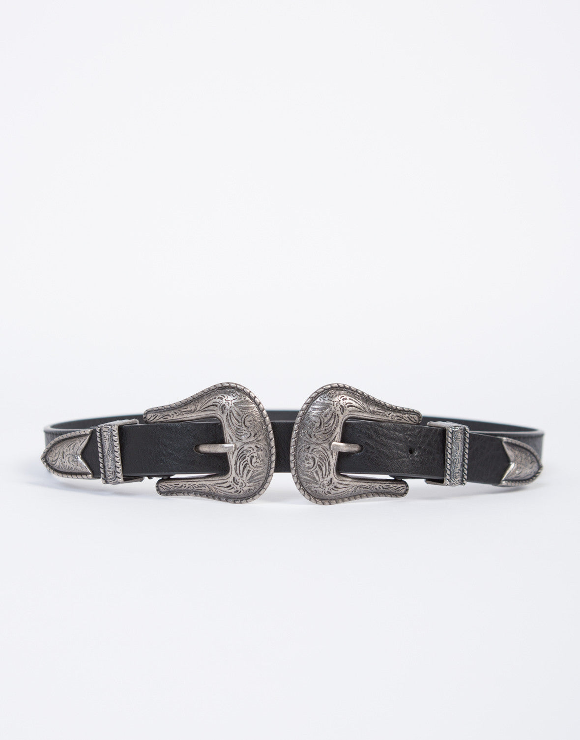 Skinny Double Buckled Western Belt - 2020AVE