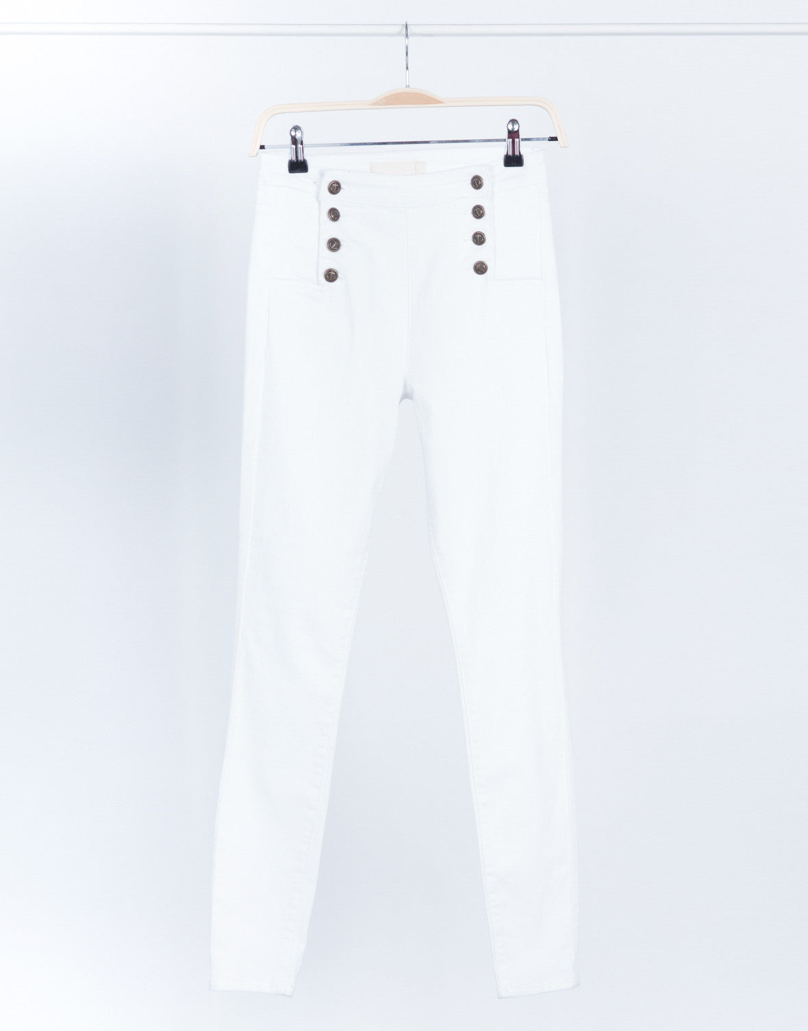 9a23fc9a5000 Skinny Sailor Jeans - White Denim - Nautical Jeans – 2020AVE
