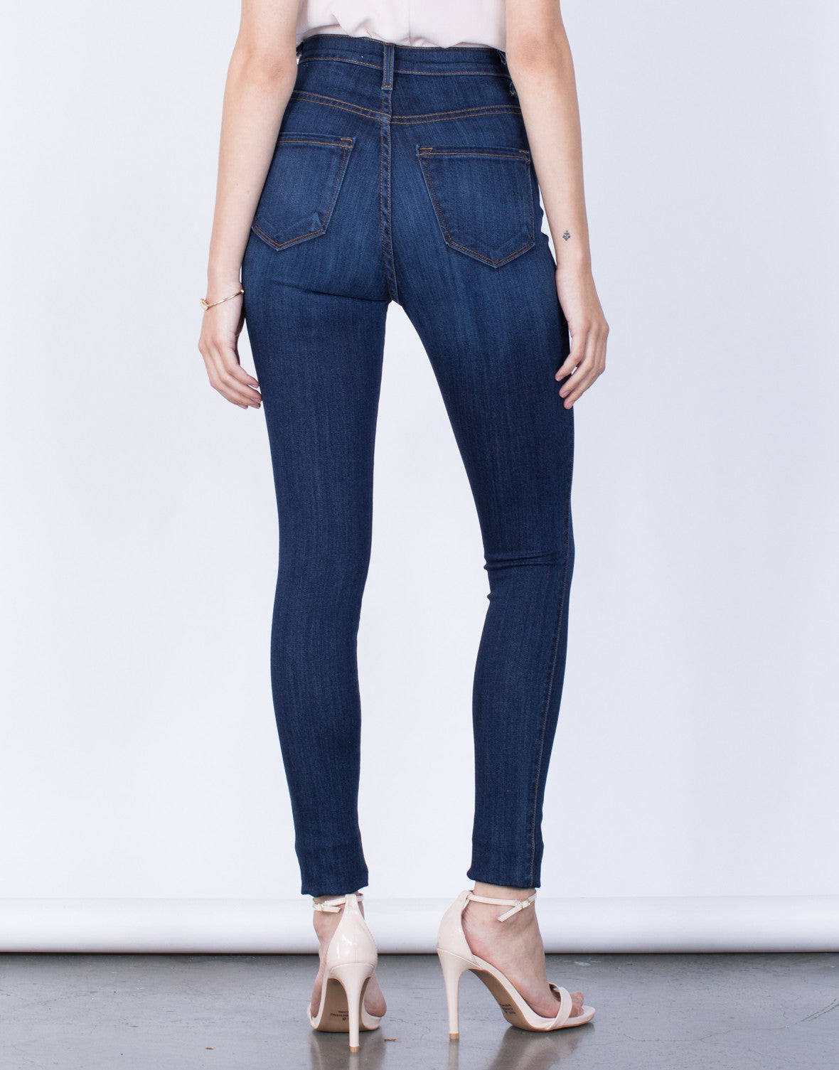 Back View of Sky High Jeans