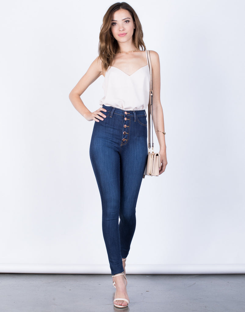 Front View of Sky High Jeans