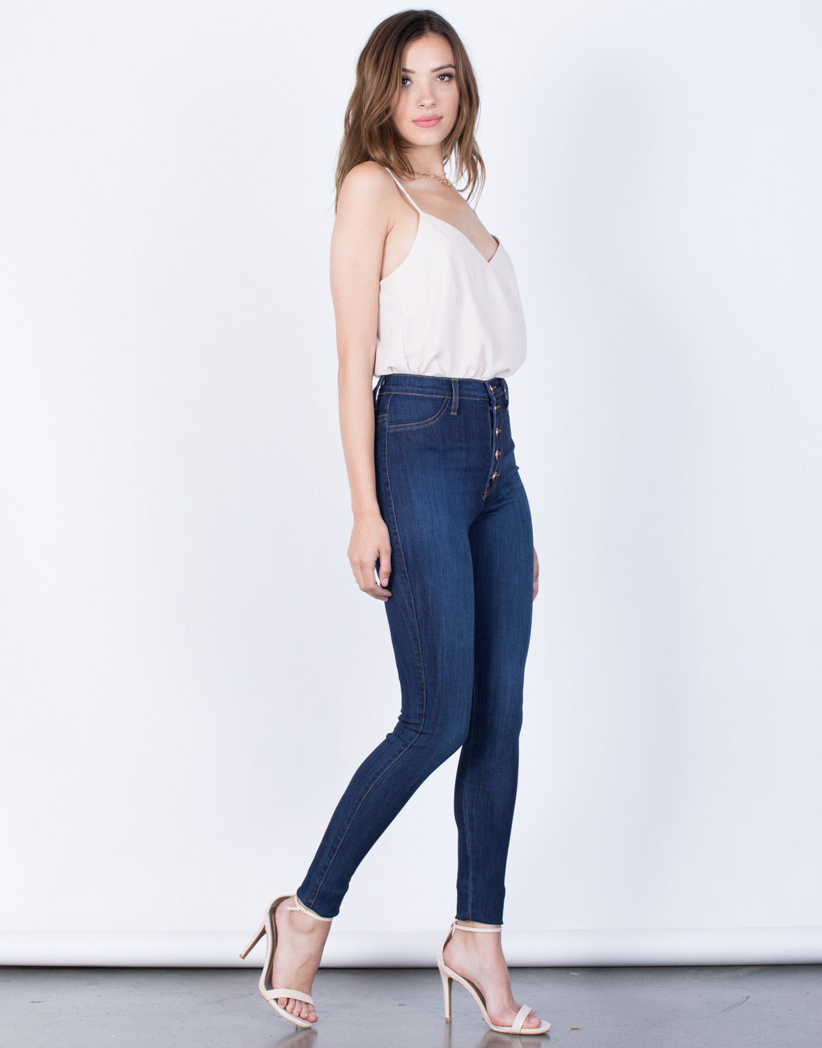 Side View of Sky High Jeans
