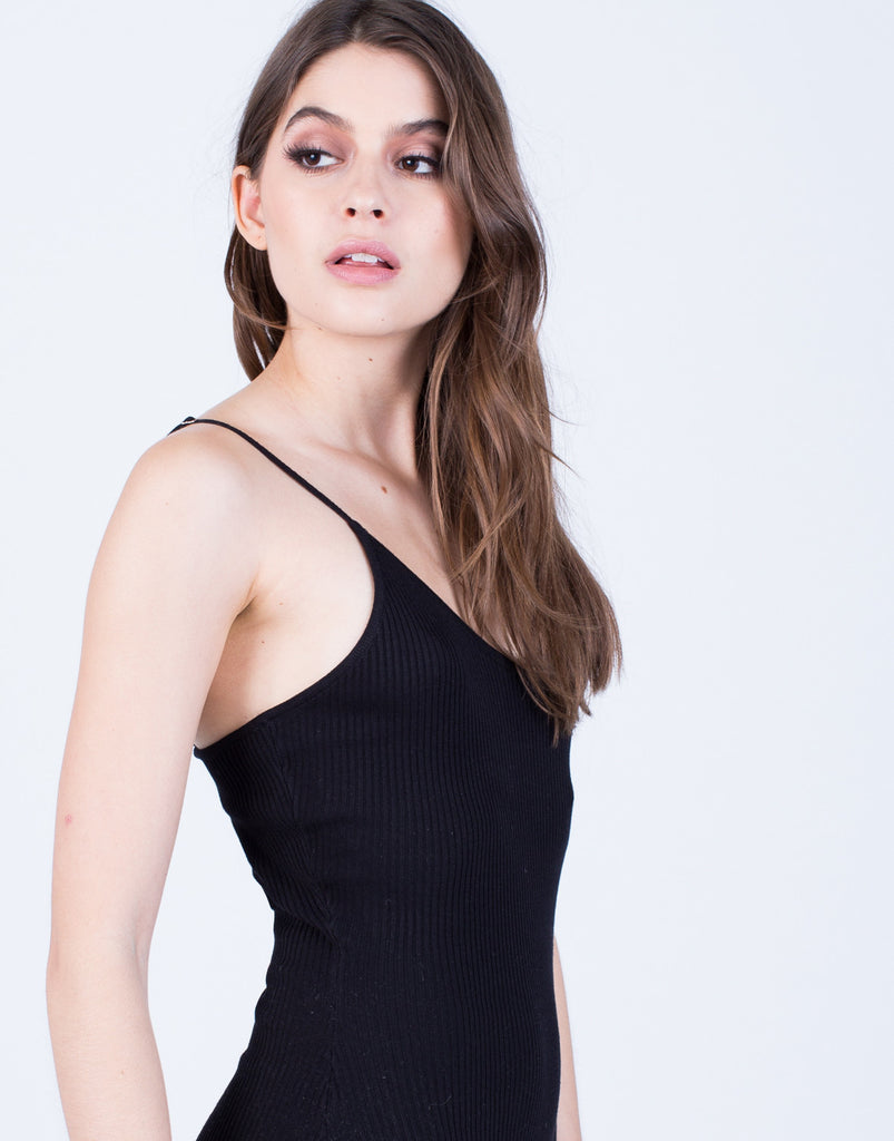 Detail of Sleek Knit Romper