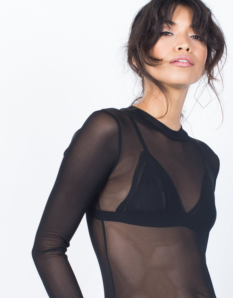 Sleek Mesh Bodysuit - 2020AVE