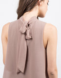Detail of Sleeveless Chiffon Blouse