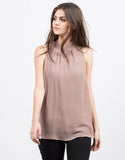Front View of Sleeveless Chiffon Blouse