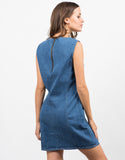 Back View of Sleeveless Denim Dress