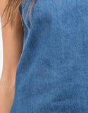 Detail of Sleeveless Denim Dress