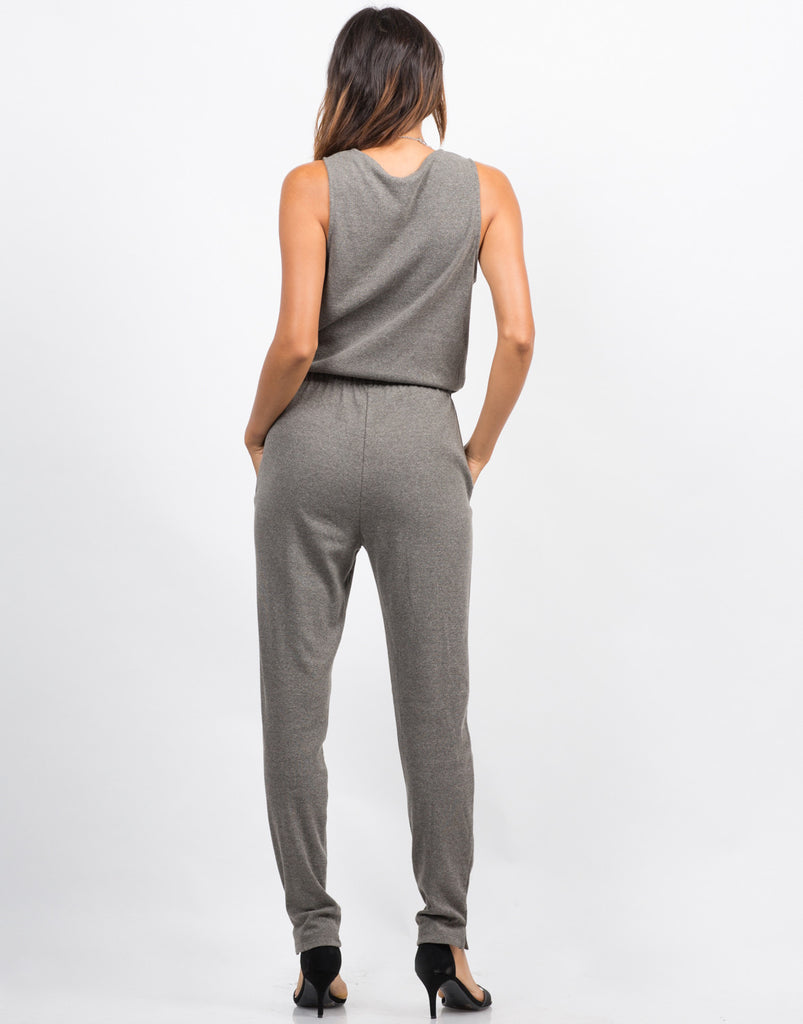 Sleeveless Ribbed Jumpsuit - 2020AVE