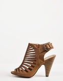 Side View of Slingback Laser Cut Heels