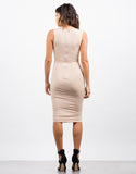 Back View of Slinky Lace Up Dress