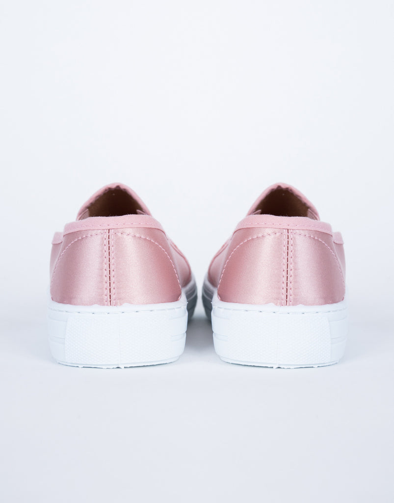 Slip into Satin Sneakers