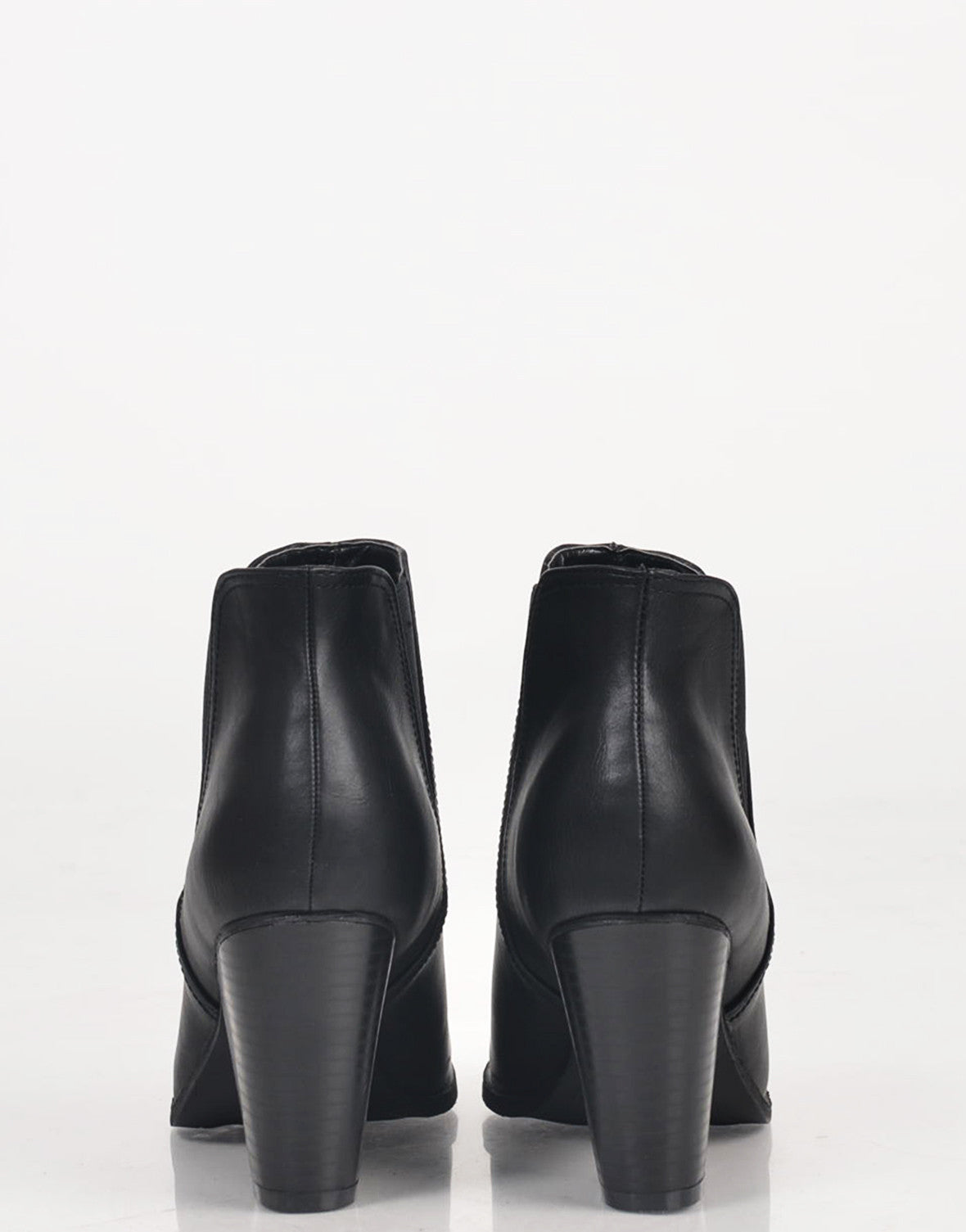 Slip On Leatherette Booties - 2020AVE