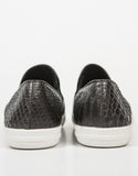 Back View of Snake Skin Slip On Sneakers
