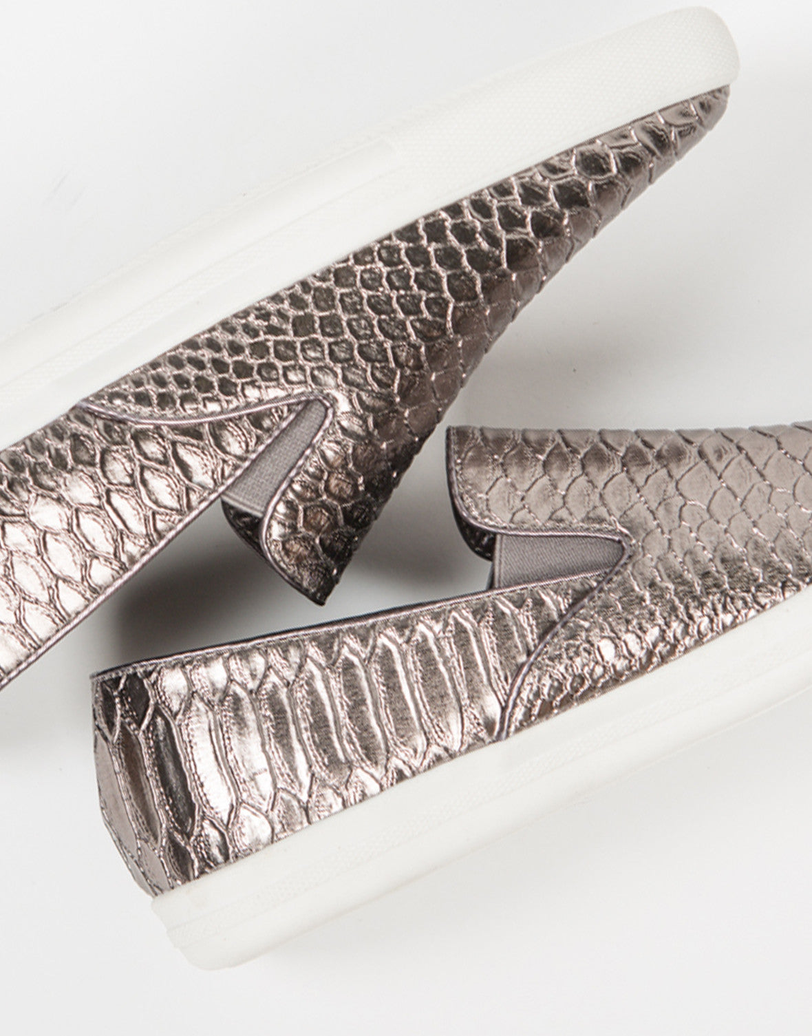 Detail of Snake Skin Slip On Sneakers