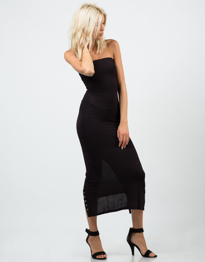 Snap It Button Midi Dress - 2020AVE