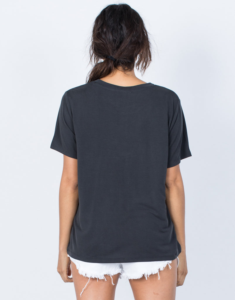Black Snuggle Soft Tee - Back View
