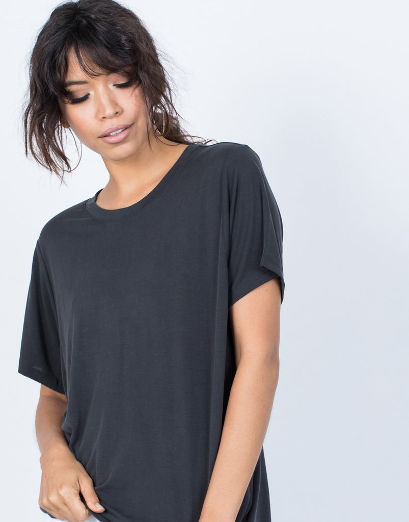 Black Snuggle Soft Tee - Detail