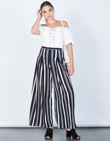 So 70's Striped Pants - 2020AVE