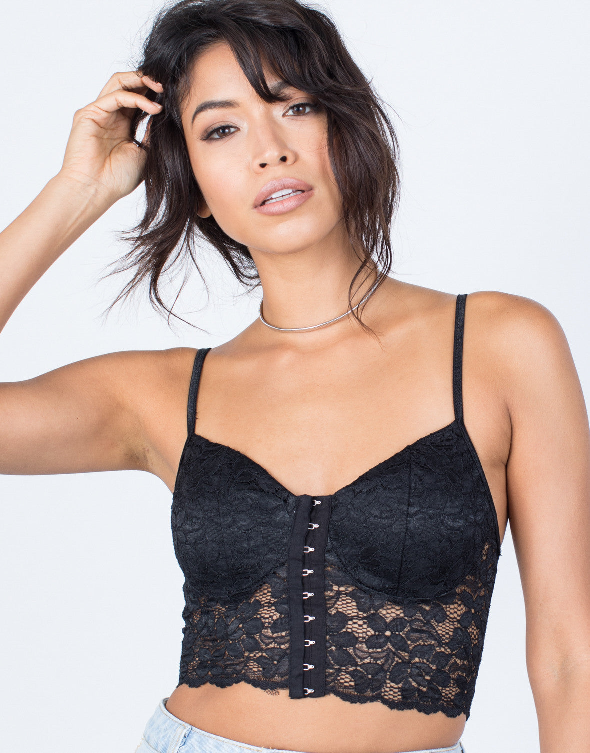 Detail of So Lacey Corset Top