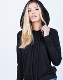Detail of So Slit Up Hoodie
