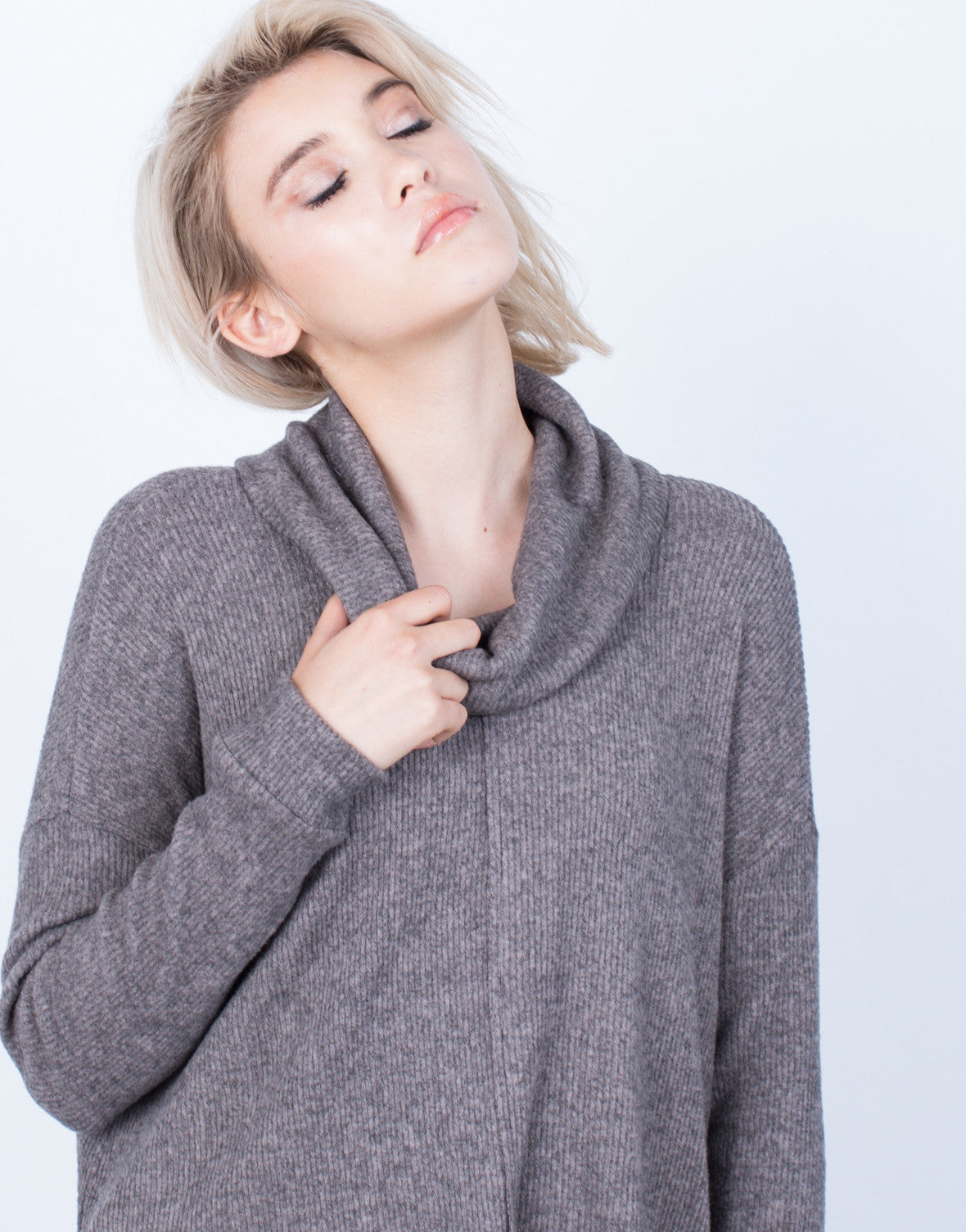Detail of Soft Brushed Sweater Top