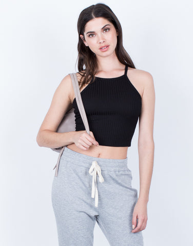 Front View of Soft Cami Crop Top