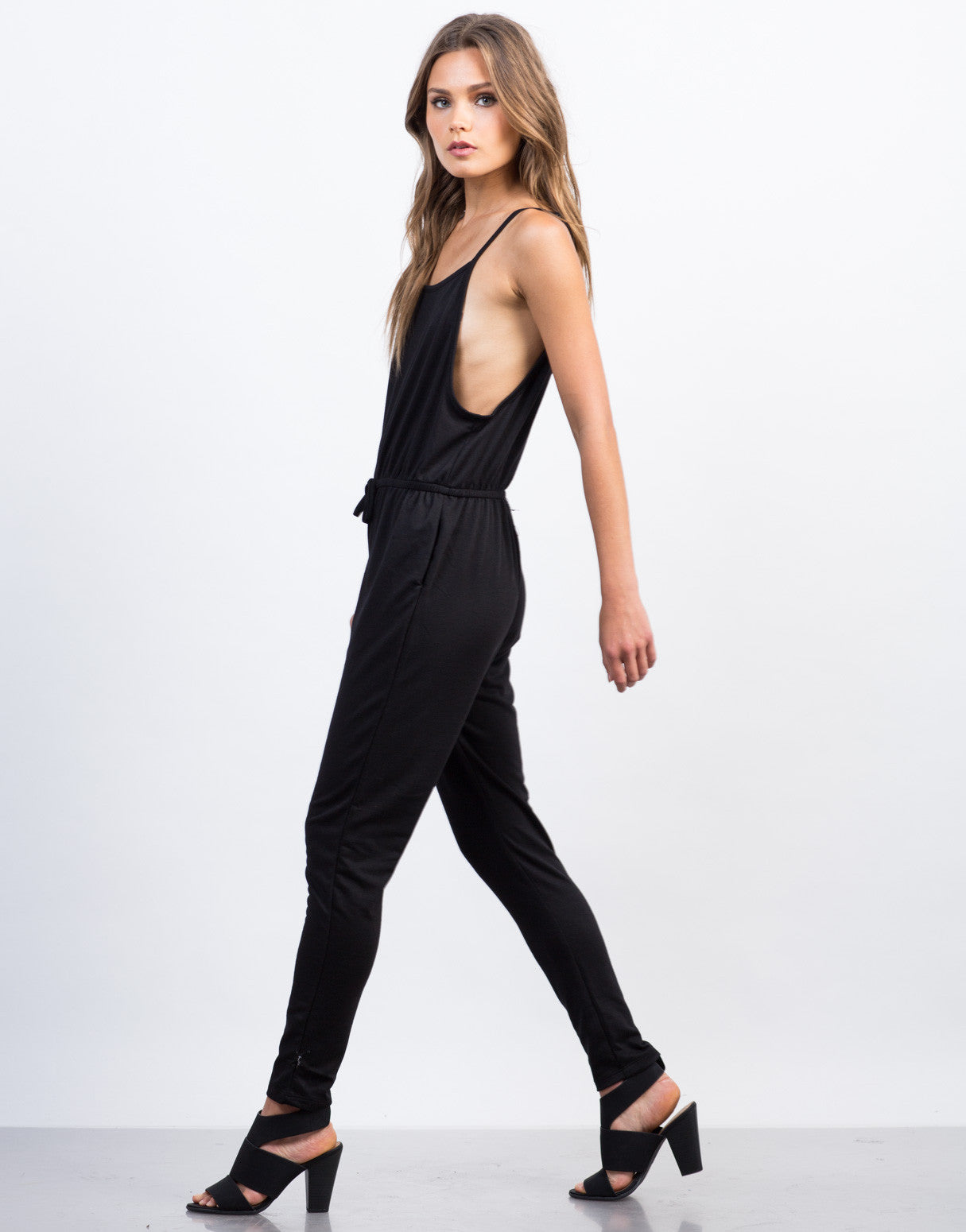 Side View of Soft Cami Jumpsuit