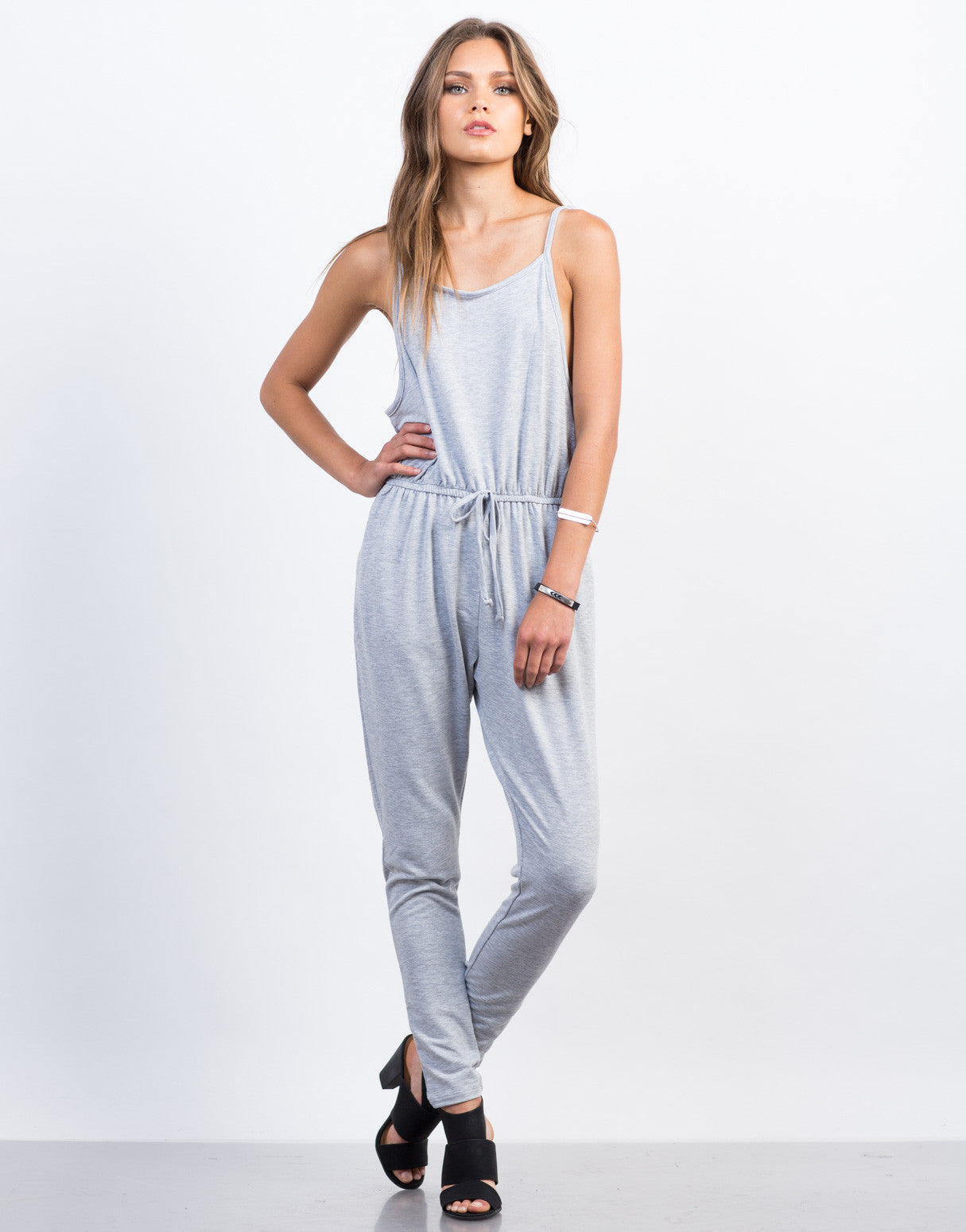 Front View of Soft Cami Jumpsuit