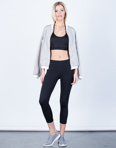 Front View of Soft Capri Leggings