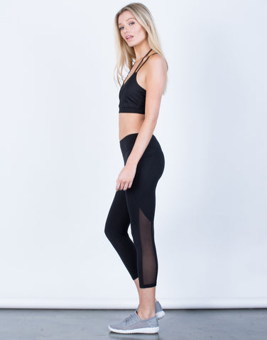Side View of Soft Capri Leggings