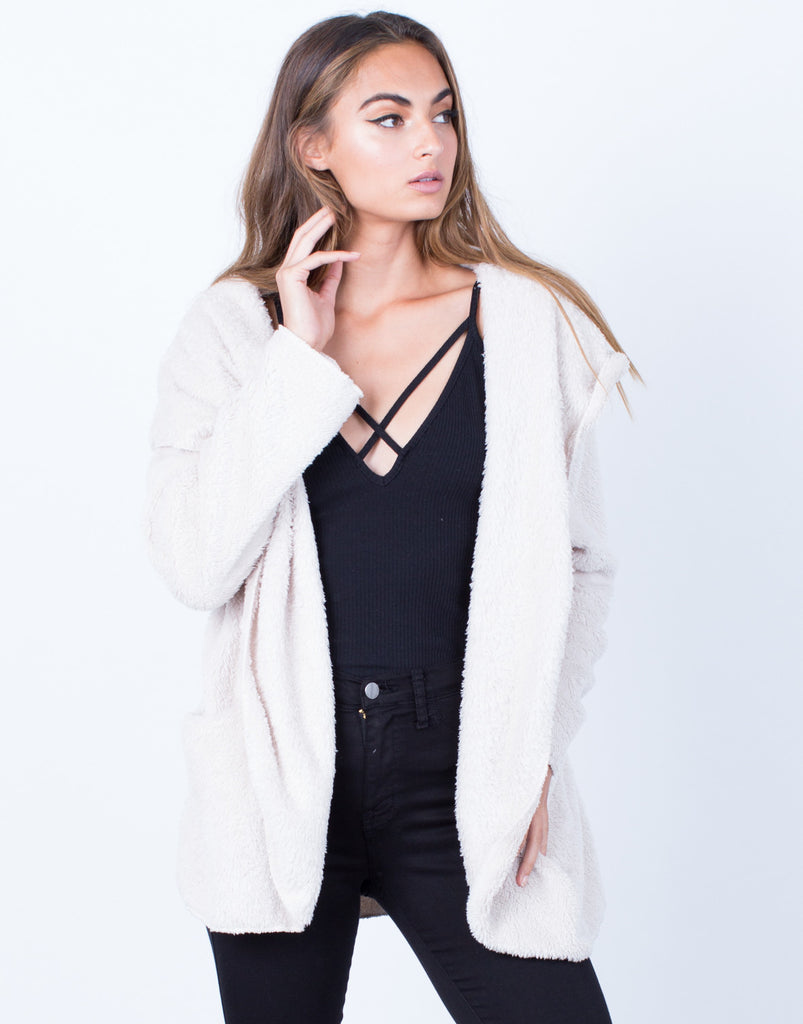 Soft Cozy Hooded Jacket - 2020AVE