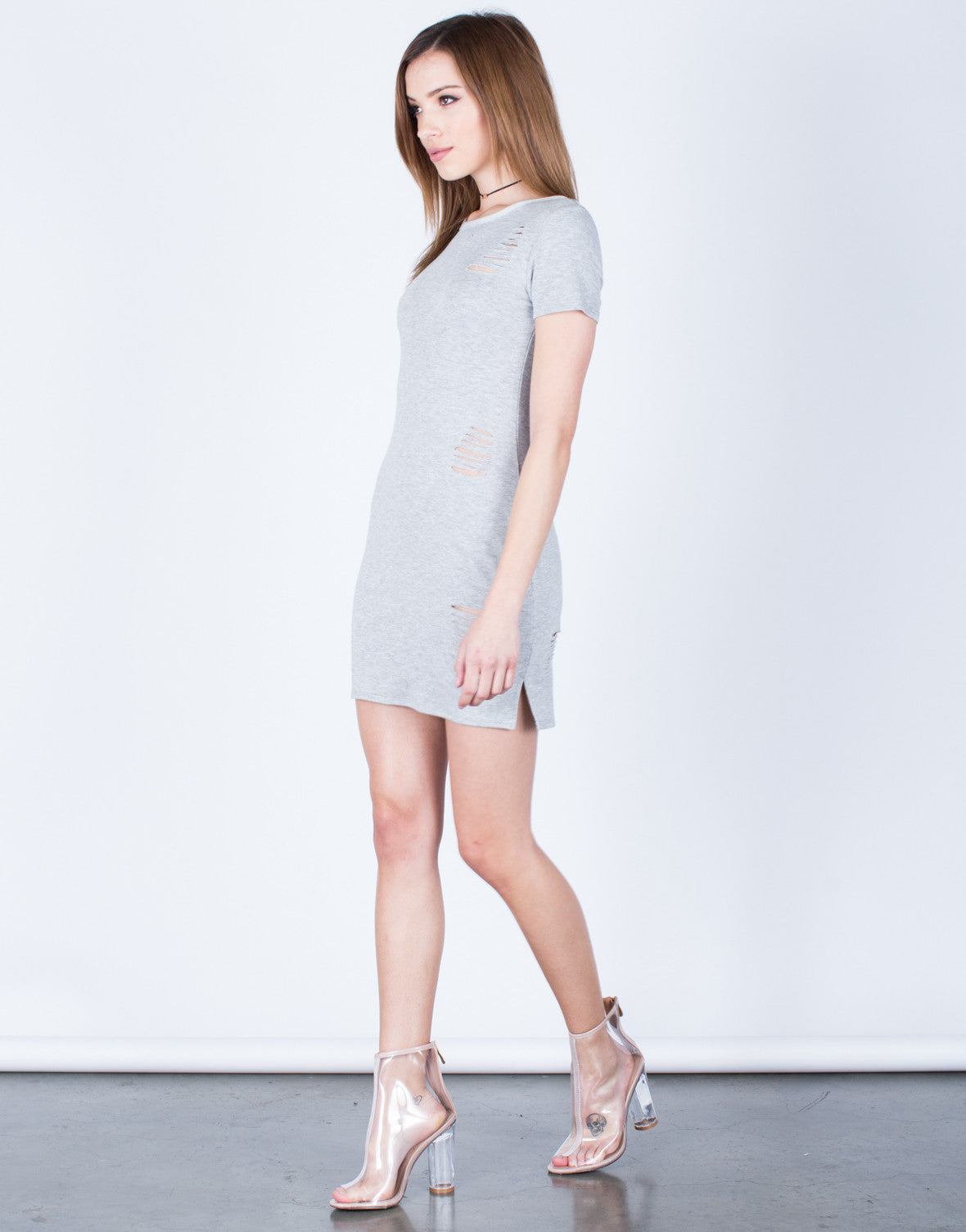 Soft Destroyed Tee Dress - 2020AVE